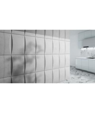 VT - PB20 (S50 light gray - mouse) BLOCK - 3D architectural concrete decor panel