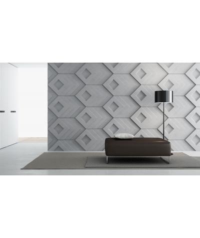 VT - PB21 (B1 siwo biały) Slab - panel dekor 3D beton architektoniczny