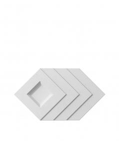 PB21 (S50 light gray 'mouse') Slab - 3D architectural concrete decor panel