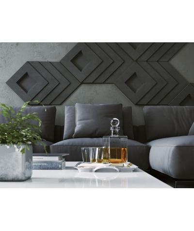 PB21 (S51 dark gray 'mouse') Slab - 3D architectural concrete decor panel