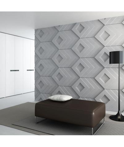 VT - PB21 (S95 jasny szary 'gołąbkowy') Slab - panel dekor 3D beton architektoniczny