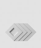 VT - PB21 (S96 ciemny szary) Slab - panel dekor 3D beton architektoniczny