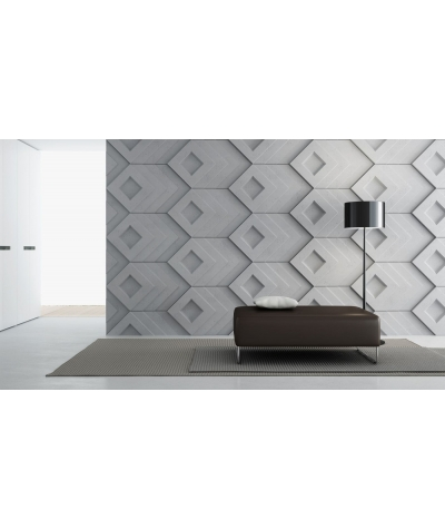VT - PB21 (B8 antracyt) Slab - panel dekor 3D beton architektoniczny