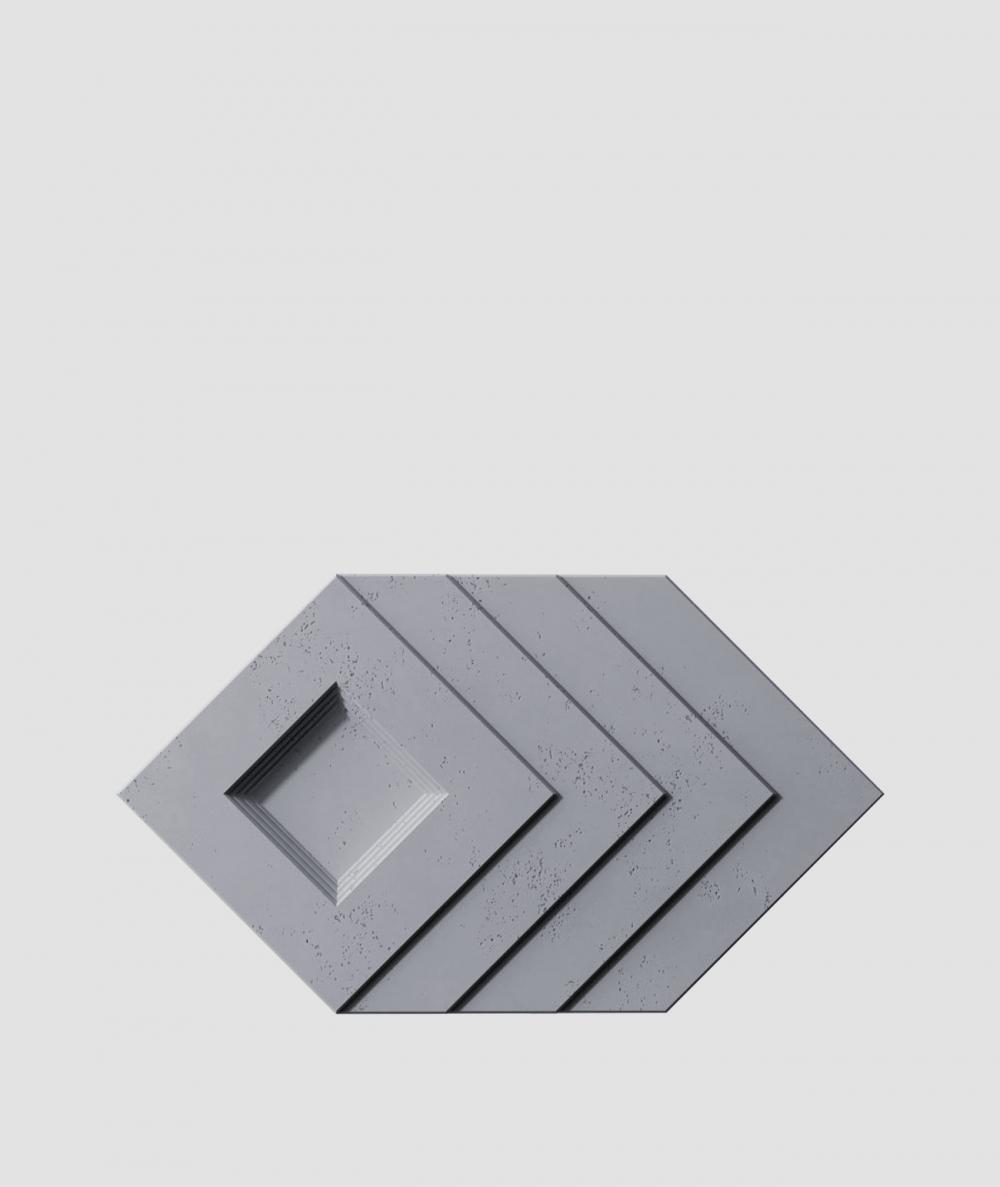 PB21 (B8 anthracite) Slab - 3D architectural concrete decor panel