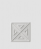 VT - PB22 (S51 ciemny szary - mysi) Slab 2 - panel dekor 3D beton architektoniczny