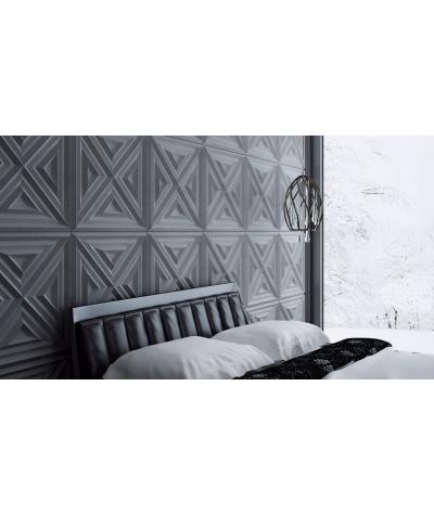 VT - PB22 (BS śnieżno biały) Slab 2 - panel dekor 3D beton architektoniczny