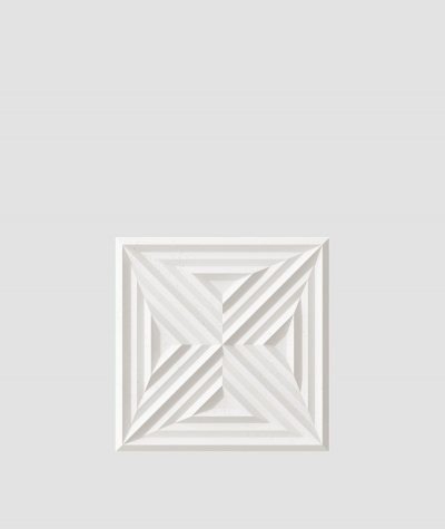 PB22 (BS snow white) Slab 2 - 3D architectural concrete decor panel