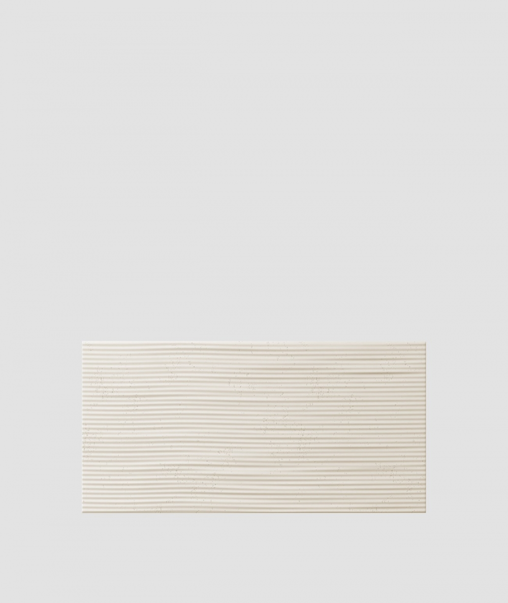 VT - PB23 (KS kość słoniowa) Fala 2 - panel dekor 3D beton architektoniczny