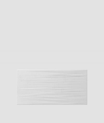 PB23 (S50 light gray 'mouse') Wave 2 - 3D architectural concrete decor panel