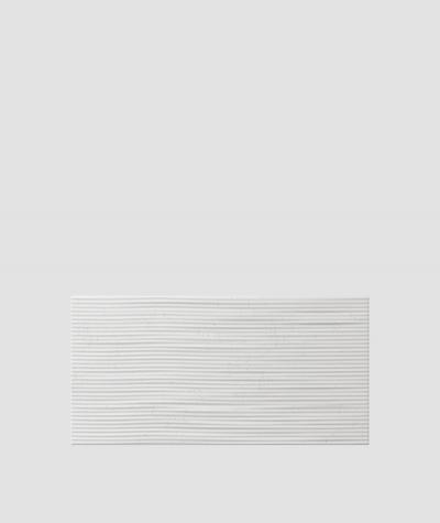 PB23 (S95 light gray 'dove') Wave 2 - 3D architectural concrete decor panel