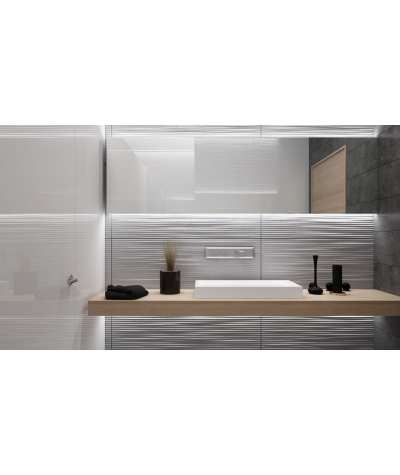 VT - PB23 (S96 ciemny szary) Fala 2 - panel dekor 3D beton architektoniczny