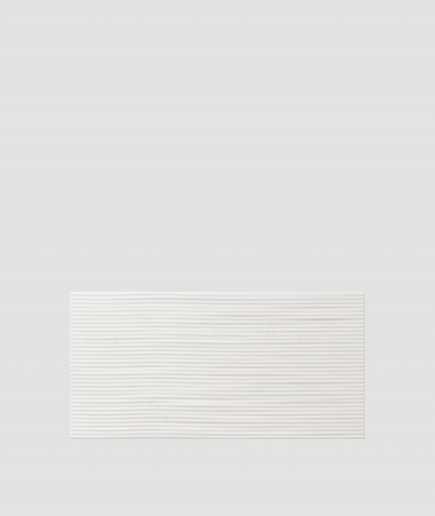 PB23 (BS snow white) Wave 2 - 3D architectural concrete decor panel