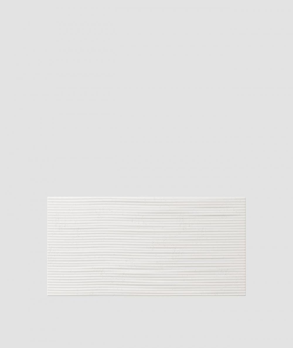 VT - PB23 (BS śnieżno biały) Fala 2 - panel dekor 3D beton architektoniczny