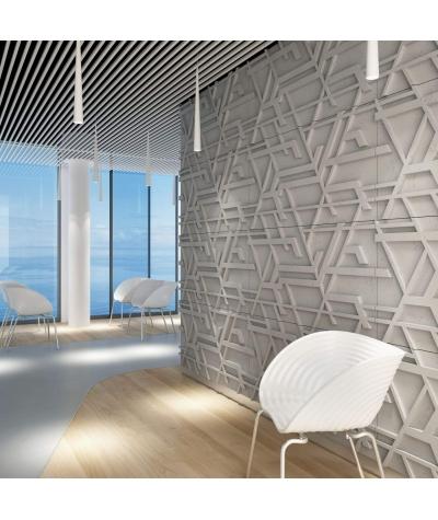 VT - PB27 (B0 biały) Kor - panel dekor 3D beton architektoniczny