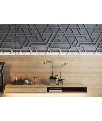 VT - PB27 (B1 siwo biały) Kor - panel dekor 3D beton architektoniczny