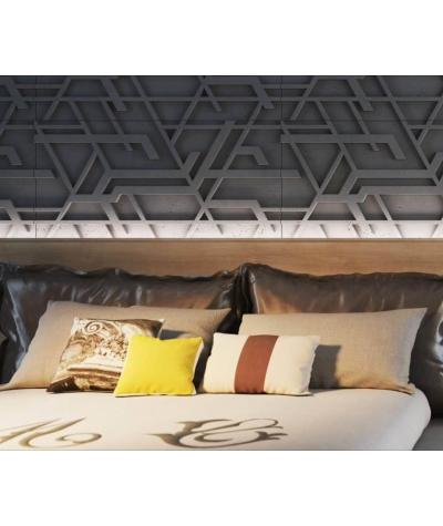 VT - PB27 (S95 jasny szary 'gołąbkowy') Kor - panel dekor 3D beton architektoniczny