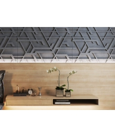 PB27 (S95 light gray 'dove') Kor - 3D architectural concrete decor panel