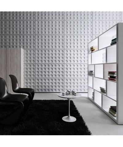 VT - PB28 (B1 gray white) Grid- 3D architectural concrete decor panel