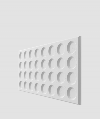 PB28 (B1 gray white) Grid- 3D architectural concrete decor panel