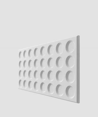 PB28 (S50 light gray 'mouse') Grid- 3D architectural concrete decor panel