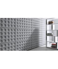 VT - PB28 (S51 ciemny szary 'mysi') Grid - panel dekor 3D beton architektoniczny