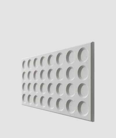 PB28 (S51 dark gray 'mouse') Grid- 3D architectural concrete decor panel