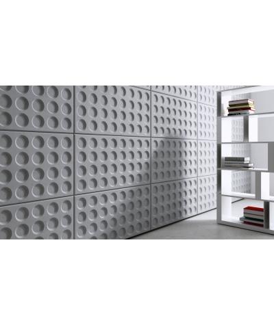 VT - PB28 (S95 jasny szary 'gołąbkowy') Grid - panel dekor 3D beton architektoniczny