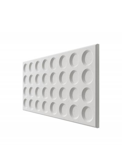 PB28 (S95 light gray 'dove') Grid- 3D architectural concrete decor panel