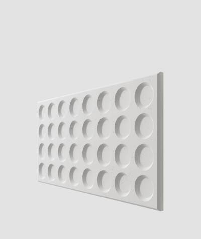 PB28 (S95 light gray 'dove') Grid- 3D architectural concrete decor panel