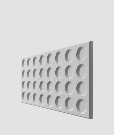 PB28 (S96 dark gray) Grid- 3D architectural concrete decor panel