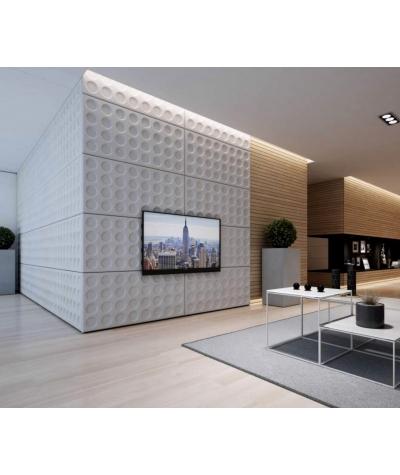 PB28 (B8 anthracite) Grid- 3D architectural concrete decor panel