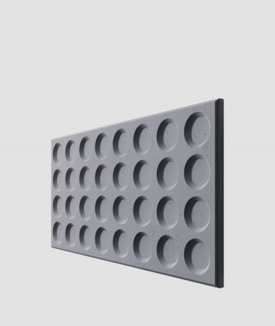 PB28 (B8 anthracite) Grid- 3D architectural concrete decor panel