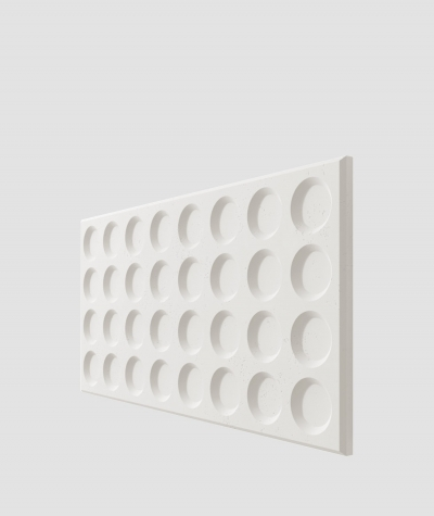 PB28 (BS snow white) Grid- 3D architectural concrete decor panel