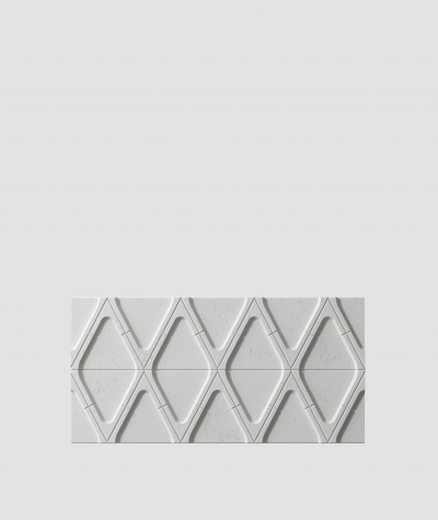 PB31 (S51 dark gray 'mouse') Module V - 3D architectural concrete decor panel
