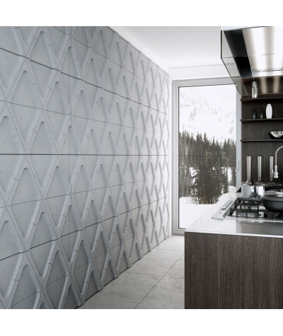VT - PB31 (S96 ciemny szary) Moduł V - panel dekor 3D beton architektoniczny