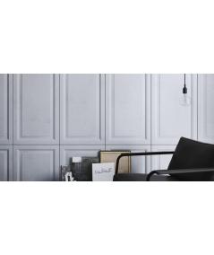 PB33a (S51 dark gray 'mouse') Frame - 3D architectural concrete decor panel