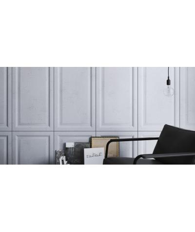 VT - PB33b (S50 light gray - mouse) Frame - 3D architectural concrete decor panel