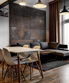 DS (szary corten) - płyta beton architektoniczny GRC ultralekka