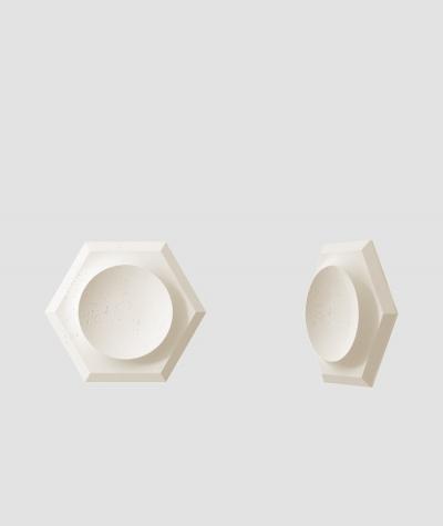 PB01D (B0 white) HEXAGON - 3D architectural concrete decor panel