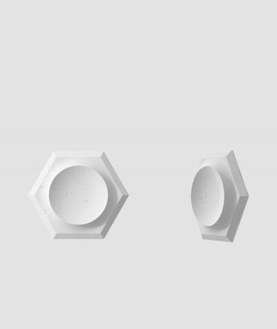 PB01D (B1 gray white) HEXAGON - 3D architectural concrete decor panel