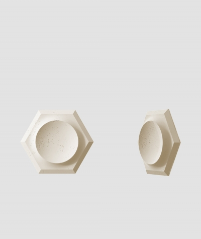 PB01D (KS ivory) HEXAGON - 3D architectural concrete decor panel