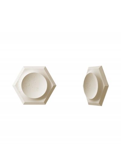 VT - PB01D (KS kość słoniowa) HEKSAGON - panel dekor 3D beton architektoniczny