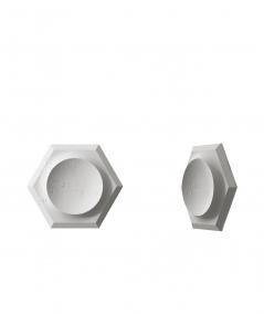 VT - PB01D (S51 dark gray - mouse) HEXAGON - 3D architectural concrete decor panel