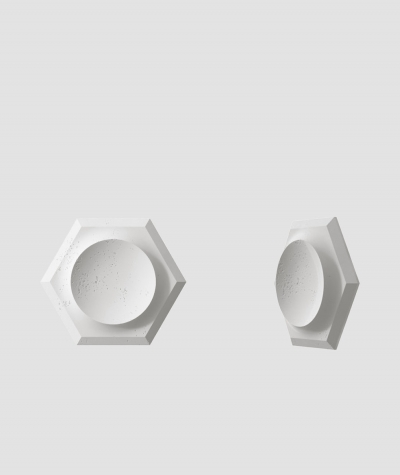 VT - PB01D (S95 light gray - dove) HEXAGON - 3D architectural concrete decor panel