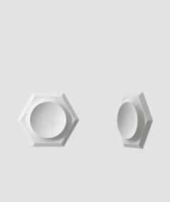 VT - PB01D (S95 szary jasny 'gołąbkowy') HEKSAGON - panel dekor 3D beton architektoniczny