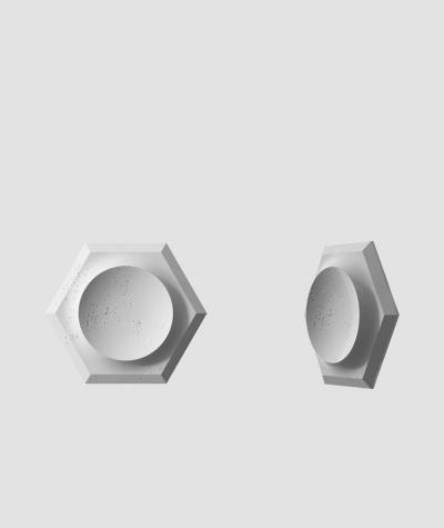VT - PB01D (S96 szary ciemny) HEKSAGON - panel dekor 3D beton architektoniczny