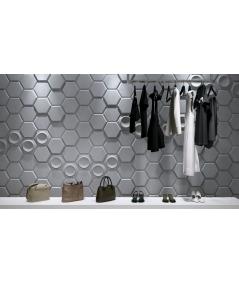 PB01D (B8 anthracite) HEXAGON - 3D architectural concrete decor panel