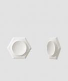 VT - PB01D (BS śnieżno biały) HEKSAGON - panel dekor 3D beton architektoniczny