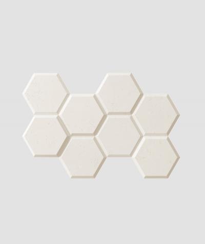VT - PB01 (B0 biały) HEKSAGON - panel dekor 3D beton architektoniczny
