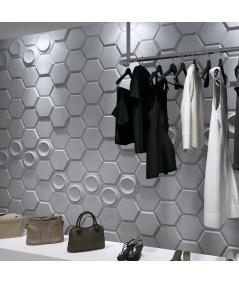 PB01 (B1 gray white) HEXAGON - 3D architectural concrete decor panel